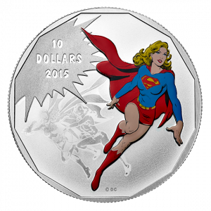 How To Invest In Silver Coins   Supergirl Fine Silver Colored Coin DC Comics Originals Supergirl Coins.