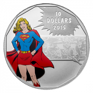 How To Invest In Silver Coins   Supergirl Silver Colored Coin DC Comics Originals Supergirl Coins.